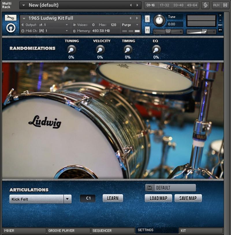 content randomizations 7 - Ludwig Super Classic Kit - The Kontakt 5 Pack