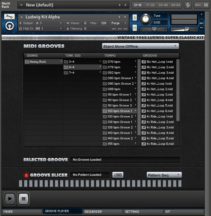 content groove player 11 - Ludwig Super Classic Kit - The Kontakt 5 Pack