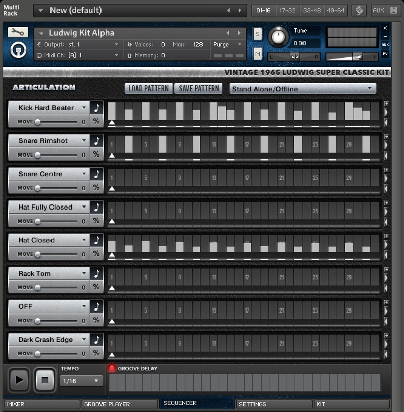 content step sequencer 12 - Ludwig Super Classic Kit - The Kontakt 5 Pack