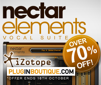 The award winning Nectar Elements from iZotope is currently 77% off at Plugin Boutique.