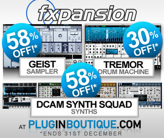 Fxpansion Black Friday Sale 60% off at Plugin Boutique