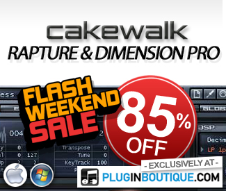Cakewalk Dimension Pro and Rapture 85% off sale at Plugin Boutique