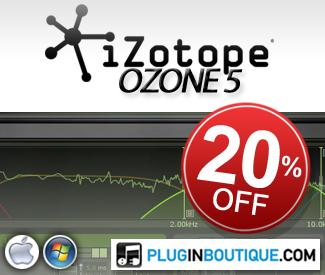 iZotope Ozone 5 20% off sale!