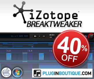iZotope BreakTweaker 40% off sale