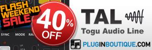 TAL Plugins 40% off Exclusive Flash Weekend Sale