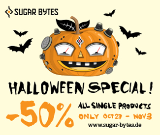 Sugar Bytes Halloween Special 50% off.