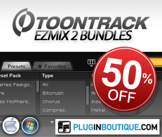For the whole of November we are offering 50% off the ToonTrack EZMix2 Bundles. Don't miss out on this great offer!