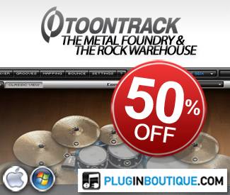 Throughout November Superior Drummer Expansion Pack SDX The Metal Foundry and The Rock Warehouse are going to be 50% off!