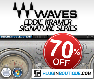 Throughout November receive a 70% off saving on Waves Eddie Kramer Signature Series Bundle.