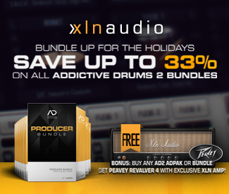XLN Audio Christmas Deals have begun with 25% off their Addictive Drums 2 Producer Bundle + Free Peavey Revalver 4 Amp.