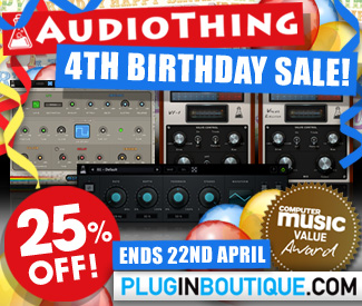 AudioThing 25% Off Sale
