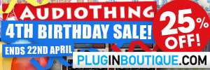 AudioThing Anniversary Sale