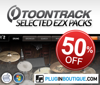 ToonTrack EZX Packs 50% off Sale