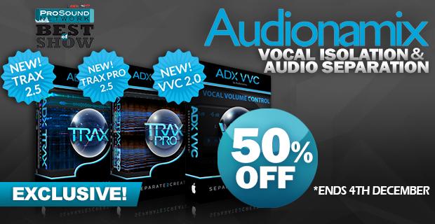 Audionamix Exclusive Black Friday Sale