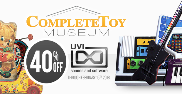 UVI Complete Toy Museum 40% off Weekend Sale