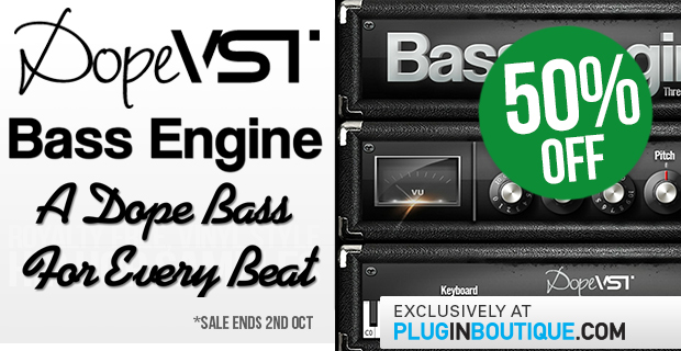 Save 50% off DopeVST Bass Engine Exclusively at Plugin Boutique