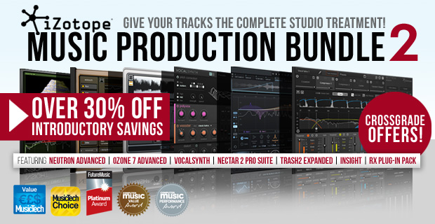 iZotope Music Production Bundle Promotion