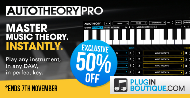 Save 50% AutoTheory at Plugin Boutique