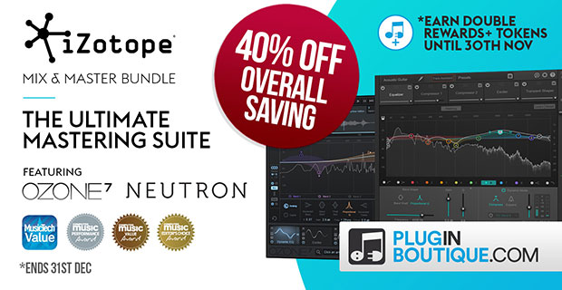 iZotope Mix & Master Bundle Sale: Save 40% off at Plugin Boutique