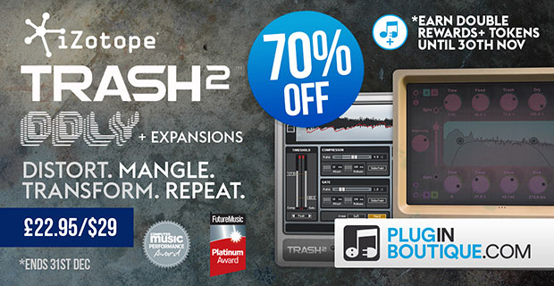 iZotope Trash 2 Sale: Save 70% off at Plugin Boutique