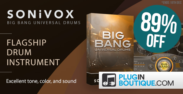SONiVOX Universal Drums Sale: Save 84% off at Plugin Boutique