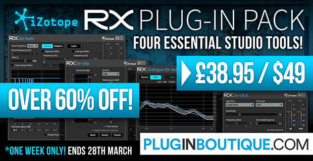 iZotope RX Plug-in Pack March Sale