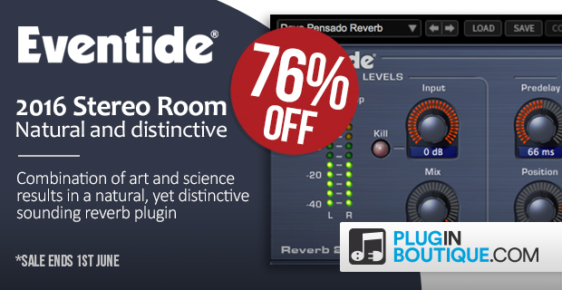 Eventide Stereo Room: Save 76% off at Plugin Boutique