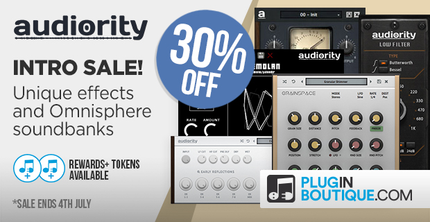 Audiority Introductory Sale: Save 30% off at Plugin Boutique