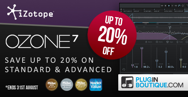 620x320 izotope ozone7 20 sale std adv pluginboutique