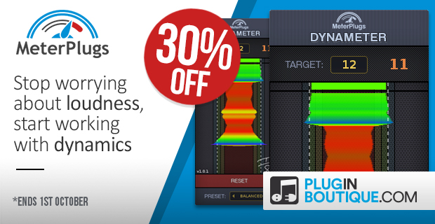 MeterPlugs Dynameter Sale: Save 30% off at Plugin Boutique