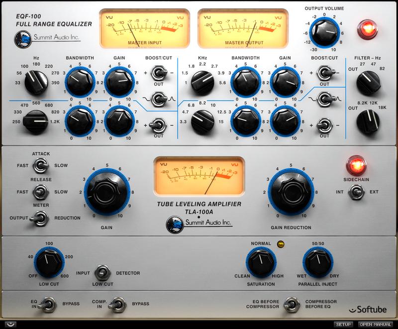 content summitgc screenshot hires pluginboutique - Softube Volume 1 Upgrade from Summit Audio EQF-100