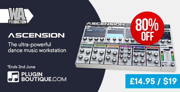 W.A Production Ascension Introductory Sale, save 50% off at Plugin Boutique