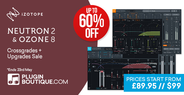 iZotope Mixing & Mastering Sale, save 60% off at Plugin Boutique