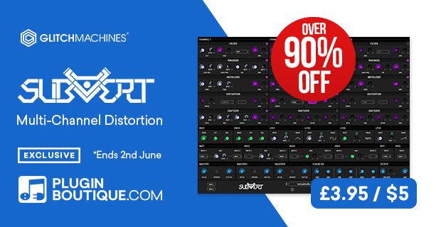 Glitchmachines Subvert (Exclusive), save over 90% off at Plugin Boutique